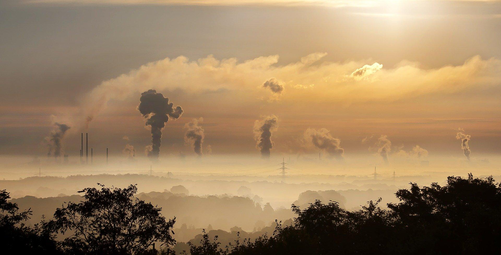 Industrie Sonnenaufgang